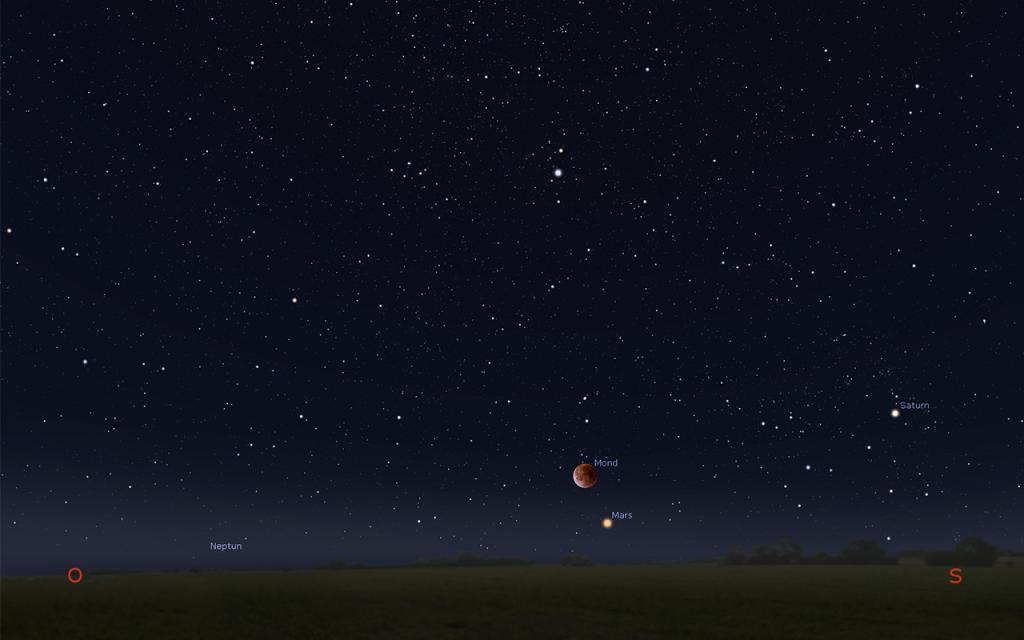 Mondfinsternis 2018-Sichtbarkeit